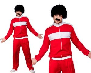 Mens 80s Fancy Dress Scouser Track Suit Costume