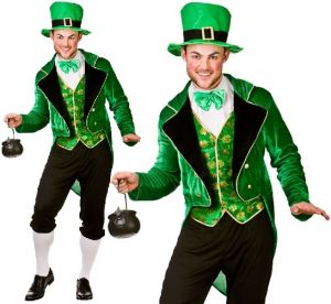 Mens Deluxe Leprechaun St Patricks Day Costume