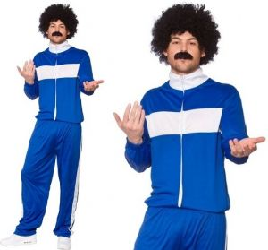 Mens Fancy Dress Retro Scouser Track Suit Costume