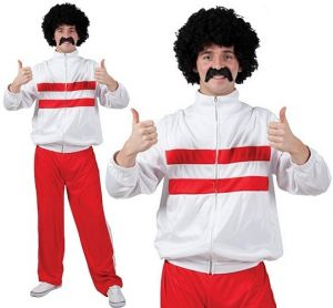 Mens Fancy Dress Funny Athlete or Scouser Track Suit Costume