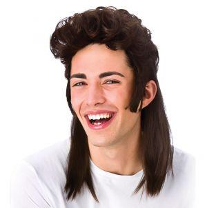 Brown Long Mullet Wig