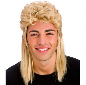 80s Mullet Fancy Dress Wig - Blonde