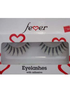 Ladies Fancy Dress 20s 60s 70s False Eyelashes - Black & White