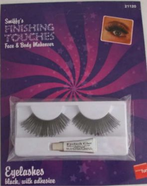 Ladies Fancy Dress 20s 60s 70s False Eyelashes - Black