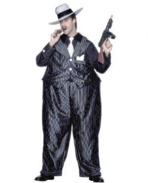 Gangster Fancy Dress - Fat Cat Costume - One Size
