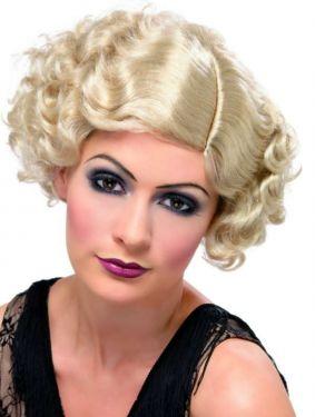 Ladies 20s Flirty Flapper Fancy Dress Wig - Blonde