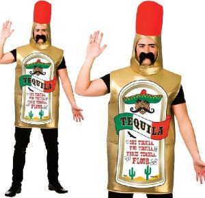 Adult Mexican Tequila Bottle Costume