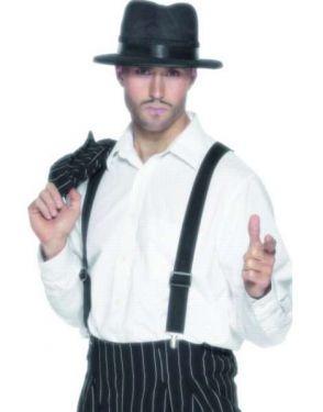 Gangster Fancy Dress - Braces - Black