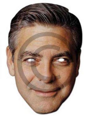 Celebrity Fancy Dress Mask - George Clooney Card Mask