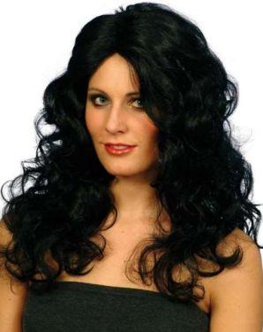Ladies Glamour Fancy Dress Wig Black