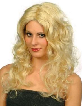 Ladies Glamour Fancy Dress Wig Blonde