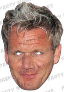 Celebrity Fancy Dress Mask - Gordon Ramsay Card Mask
