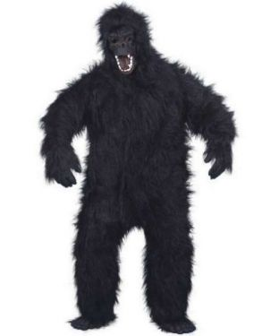 Gorilla Costume - Fancy Dress Gorilla Suit - Deluxe Full Fur