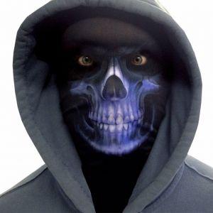 Halloween Faceskinz Stretch Fabric Mask - Reaper Blue