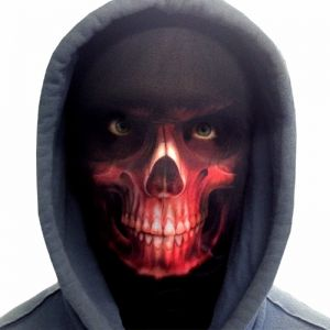 Halloween Faceskinz Stretch Fabric Mask - Reaper Red