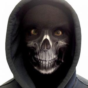 Halloween Faceskinz Stretch Fabric Mask - Reaper White