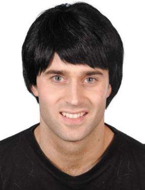 Mens Fancy Dress Guy Wig - Black