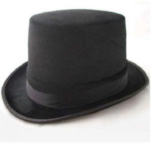 Fancy Dress Top Hat - Topper Hat - Black Velour