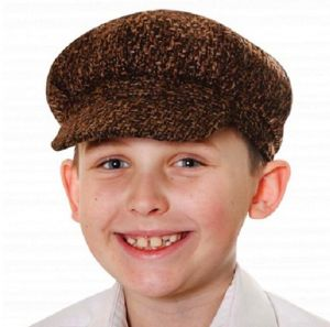 Childrens Fancy Dress Poor Victorian Boy Flat Cap