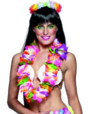 Hawaiian Fancy Dress - Deluxe Lei - Multi Coloured