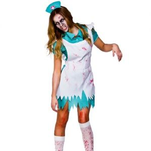 Ladies Bloodthirsty Zombie Nurse Costume