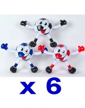 Pack of 6 Inflatable Toy Ball Boys
