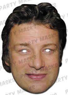 Celebrity Fancy Dress Mask - Jamie Oliver Card Mask