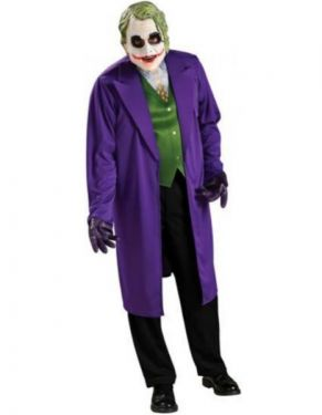 Joker Fancy Dress Costume - Standard & XL