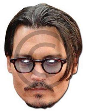 Celebrity Fancy Dress Mask - Johnny Depp Card Mask