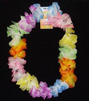 Hawaiian Fancy Dress Deluxe Lei Garland - Pastel Colours