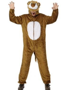 "Adult fancy Dress - Lion Costume - Animal Suit - 38/42"" Chest"