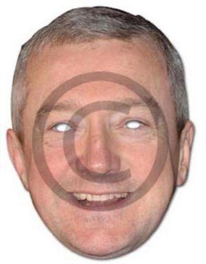 Celebrity Fancy Dress Mask - Louis Walsh Card Mask