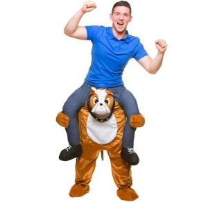 Deluxe Carry Me Bulldog Fancy Dress Costume