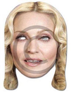 Celebrity Fancy Dress Mask - Madonna Card Mask