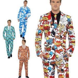 Mens Stand Out Suit - 4 Designs - M & L