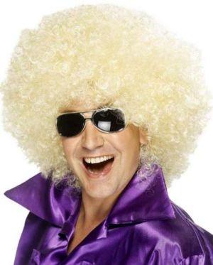 70s 1970s Mega Huge Afro Wig in Blonde