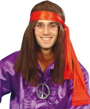 Mens 60s Hippy Fancy Dress Wig Kit