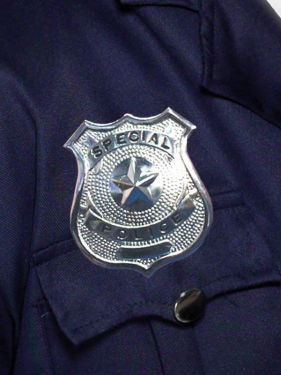 Police Fancy Dress Metal Badge