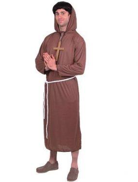 Mens Monk Fancy Dress Costume - M & L