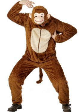 Adult fancy Dress - Monkey Costume - Animal Suit