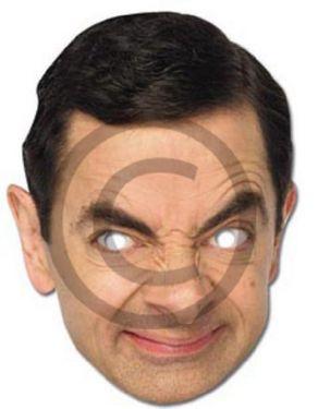 Licensed Celebrity Mr Bean Card Mask