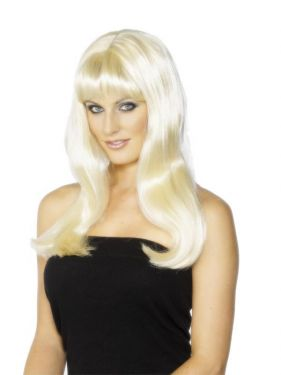 Ladies Mystique Fancy Dress Wig Blonde