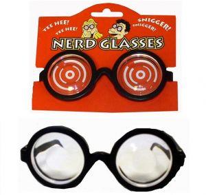 Joke Nerd Glasses - Black