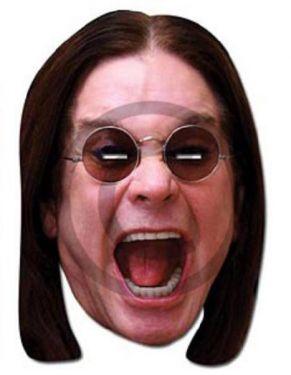 Celebrity Fancy Dress Mask - Ozzie Osbourne Card Mask