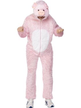 "Adult Fancy Dress - Pig Costume - Animal Suit - 38/42"" Chest"