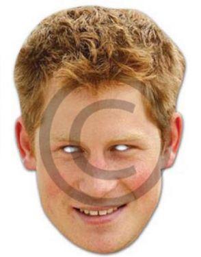 Celebrity Fancy Dress Mask - Prince Harry Card Mask