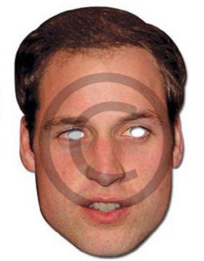Celebrity Fancy Dress Mask - Prince William Card Mask