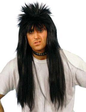 80s Punky Fancy Dress Wig - Black