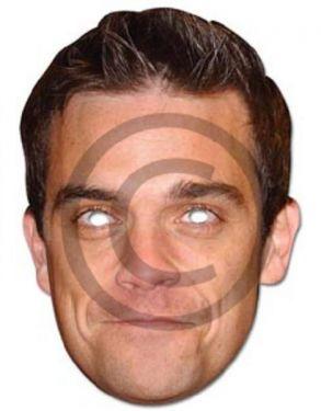 Celebrity Fancy Dress Mask - Robbie Williams Take That Mask