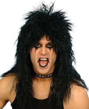 1980s Mens Hard Rocker Wig